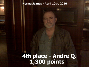 4th place - Andre Q. - 1,300 points