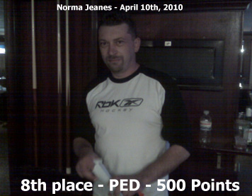 8th place - Ped S. -  500 points