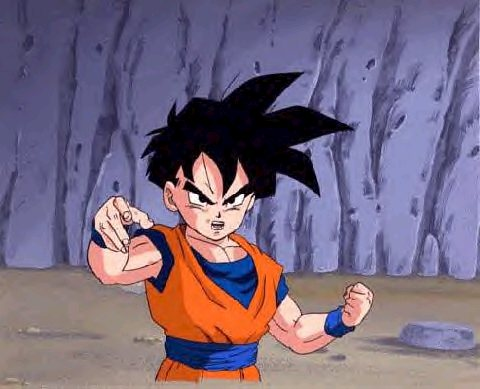 Gohan in fighting stance