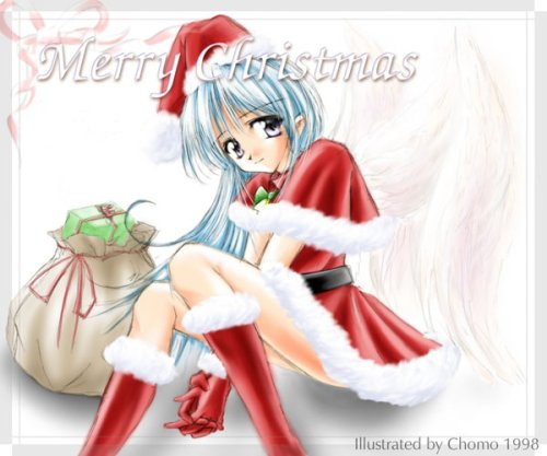 happy anime girl. Anime Christmas 32