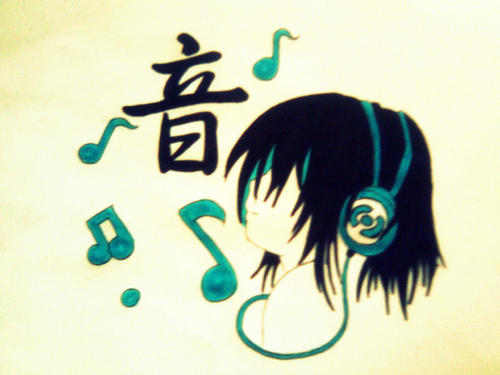 Odd Music Kanji tagme Anime Music Headphones