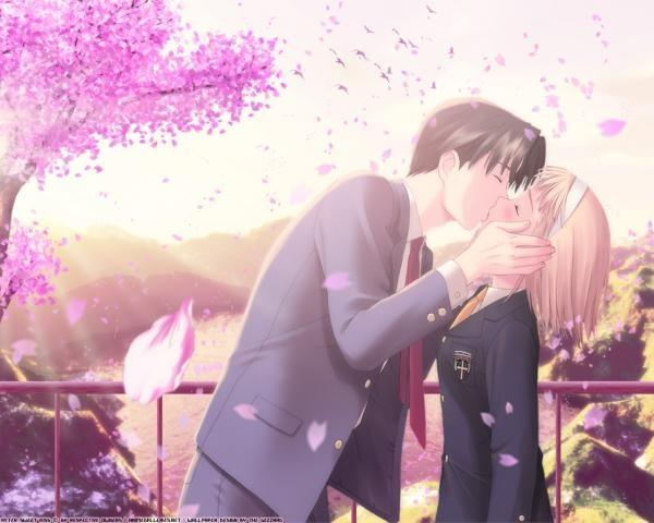emo anime love kiss. hair pictures anime love kiss.
