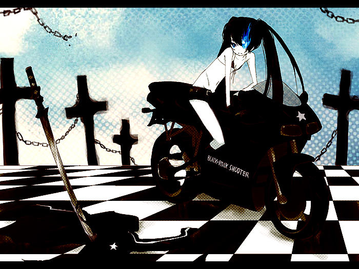 black rock shooter. Black Rock Shooter - Anime