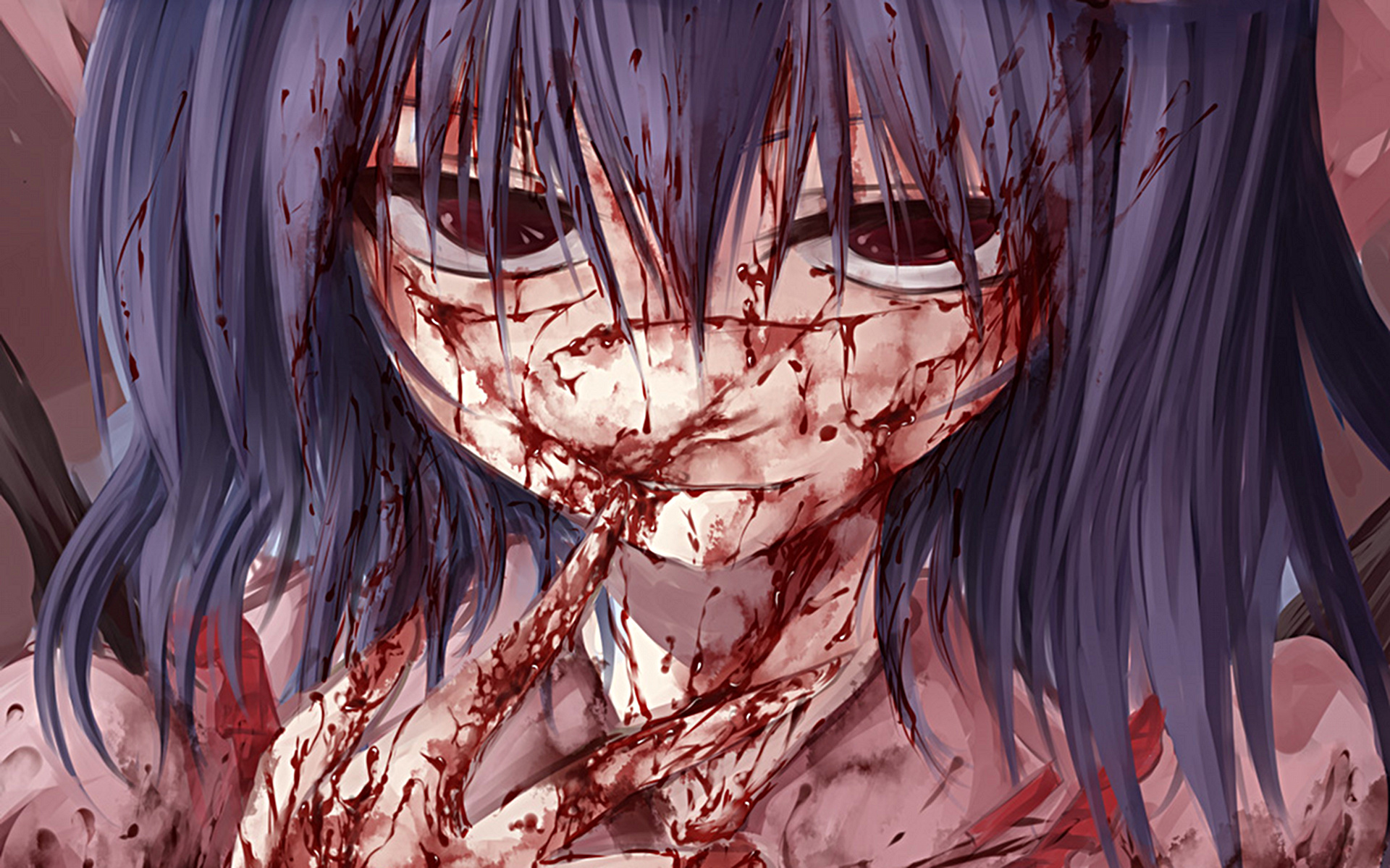 Scary bloody anime by mst
