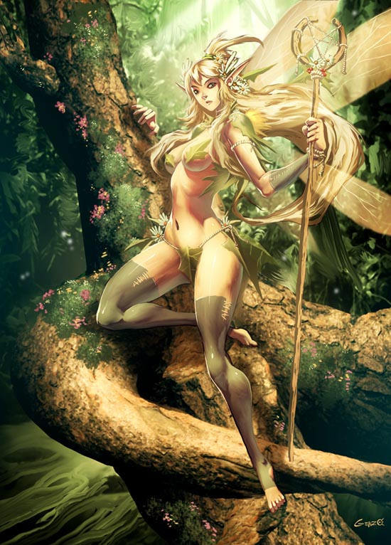 anime wallpaper hot. Hot Elf Anime Wallpaper by
