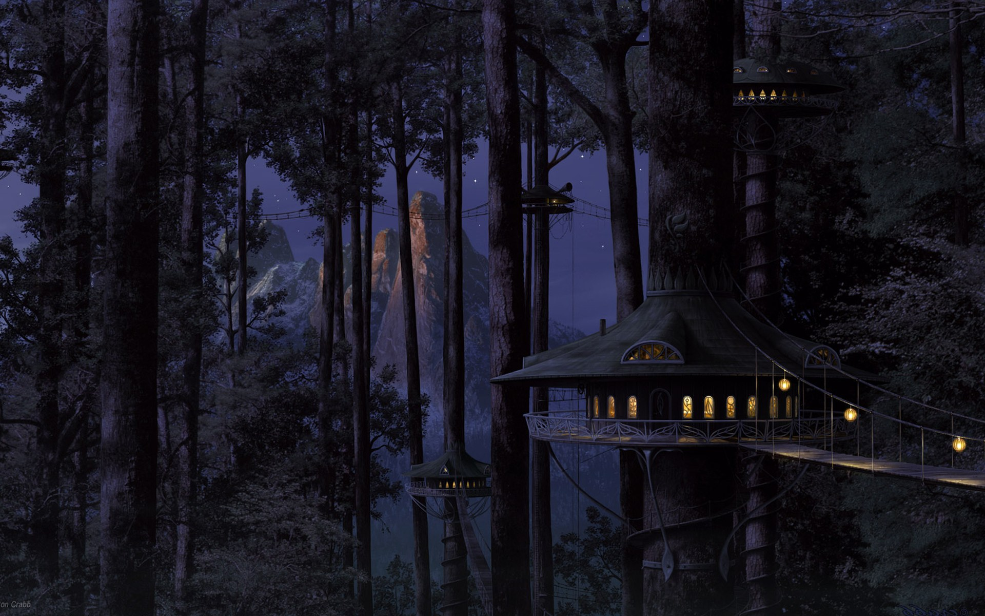 ... , wallpaper, landscape, photo, forest, anime, wallpapers, artifacts