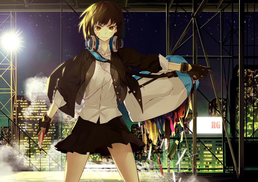 Girl With Short Hair Anime. Weird Tagme Anime Wallpaper