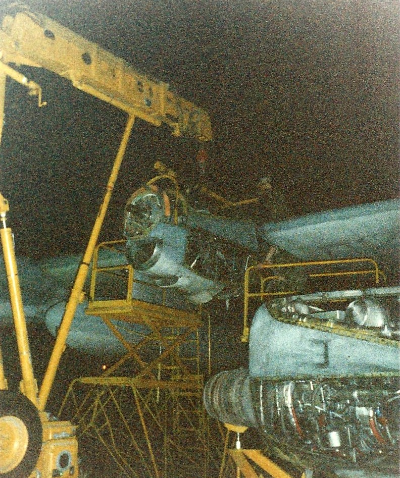 Late night engine change Bahrain