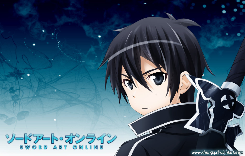 This is Kirito, from Sword Art Online, or SAO, and yes I know it's overrated but yolo