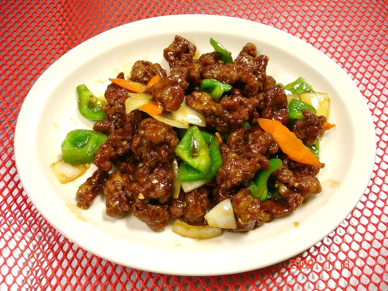 ... beef sauteed with bell pepper, onion, and carrots in light spicy sauce