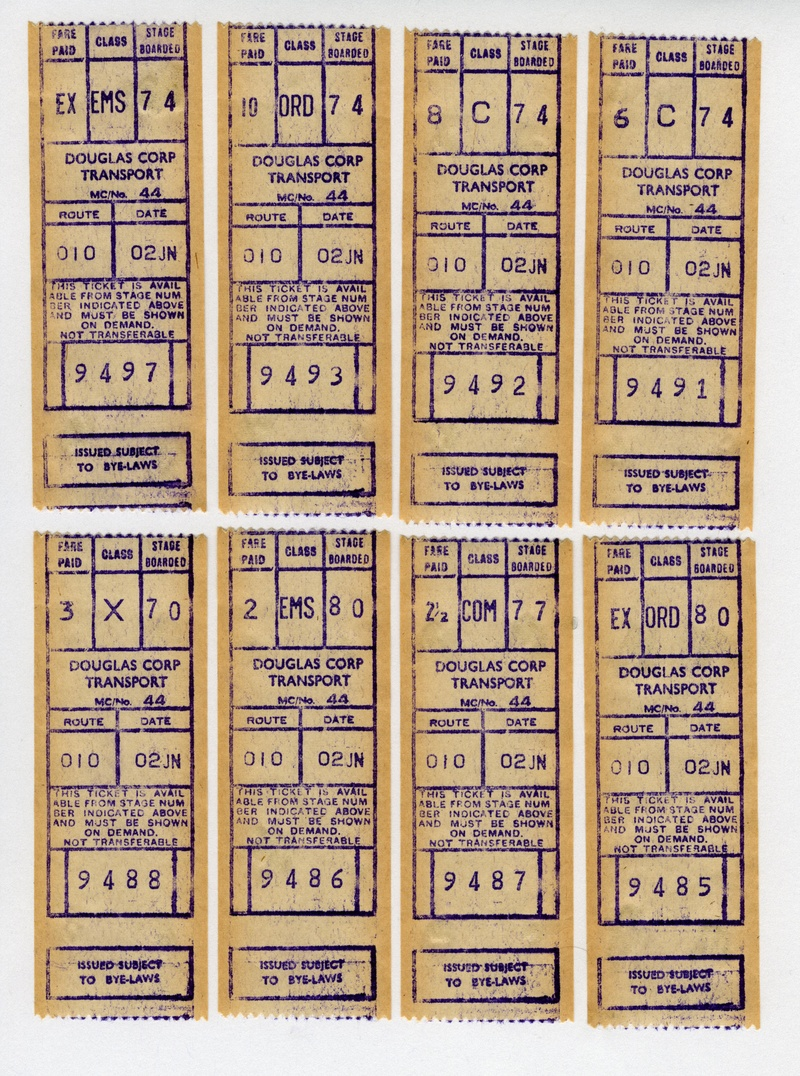 Douglas Corporation Gibson Tickets
