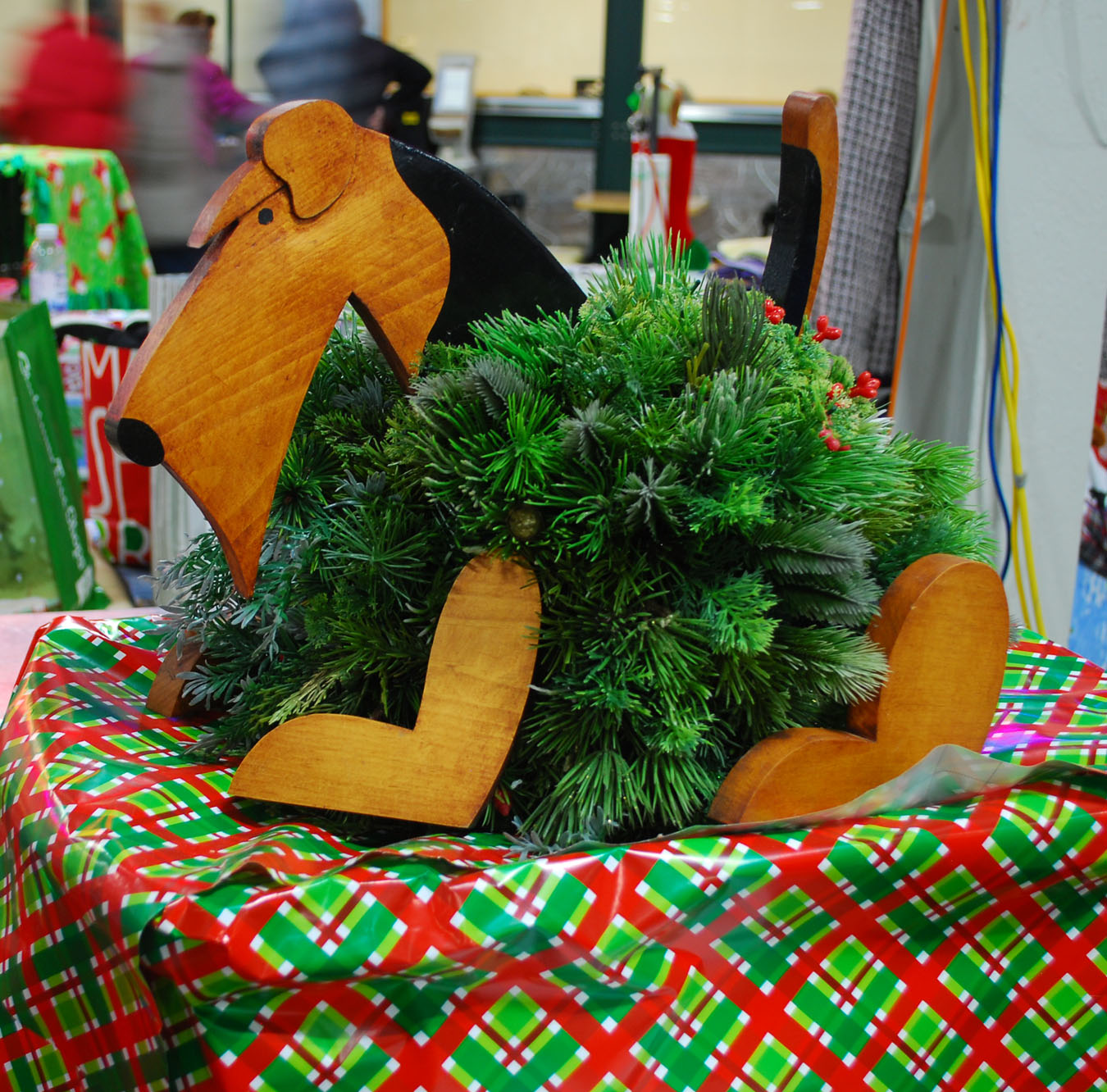 Airedale Evergreen Decoration made by John Kellar
