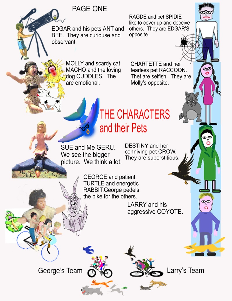 Characters, pets, and gangs.