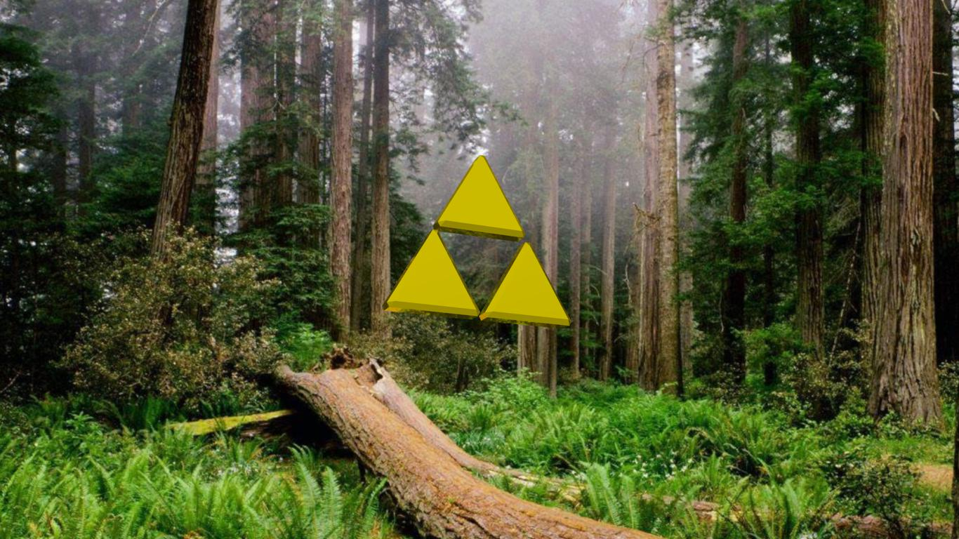 triforce in  lost woods
