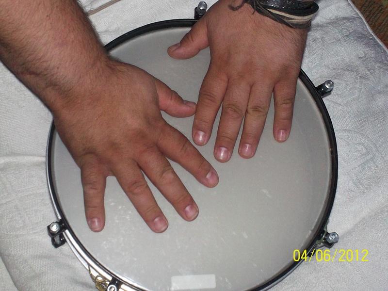 Hands on drum 2