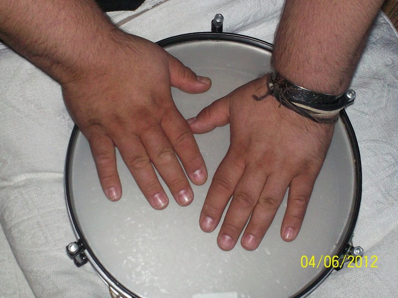 Hands on drums