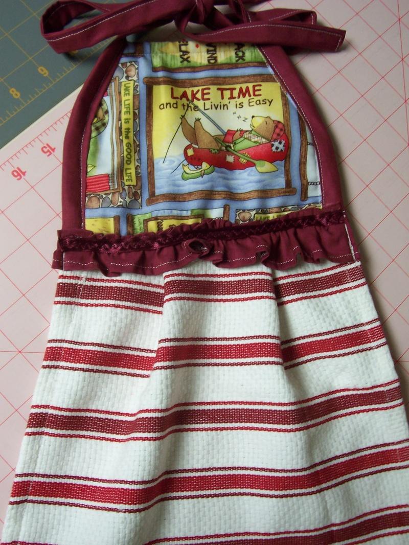 Lake Time Tie Up Kitchen Towel