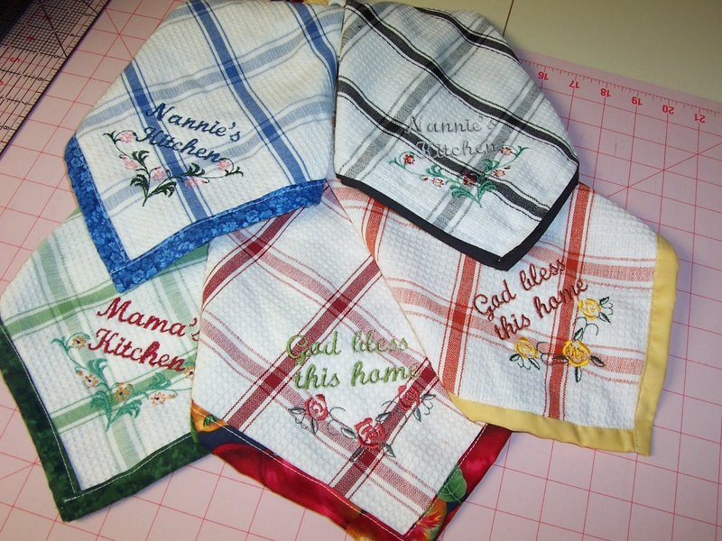 Embroidered Kitchen Wash Cloth Collage