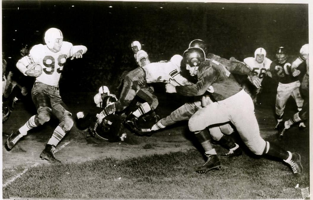 AAFC Action- Dodgers vs Yankees 1949