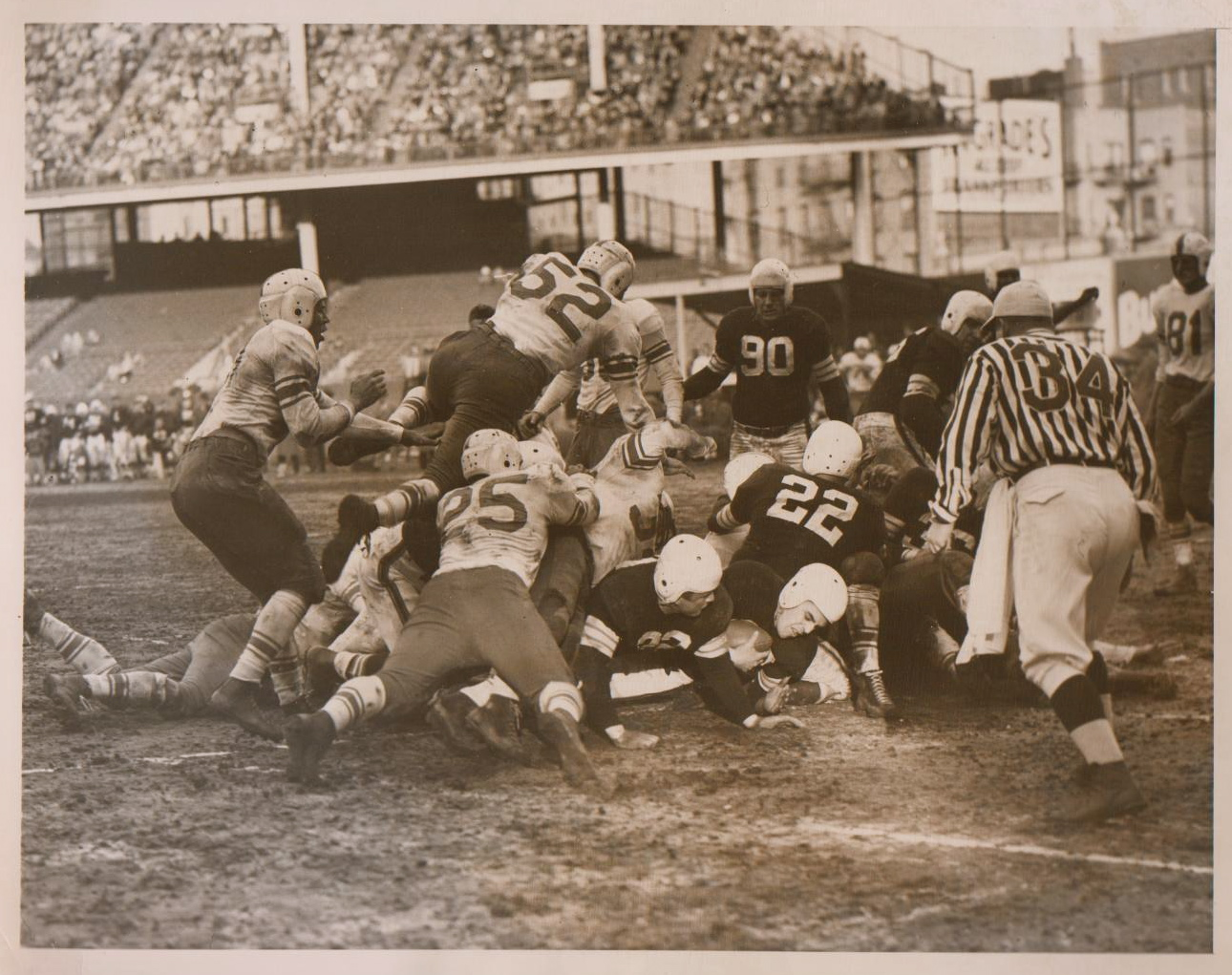 AAFC Action-Browns vs. Dodgers 1948