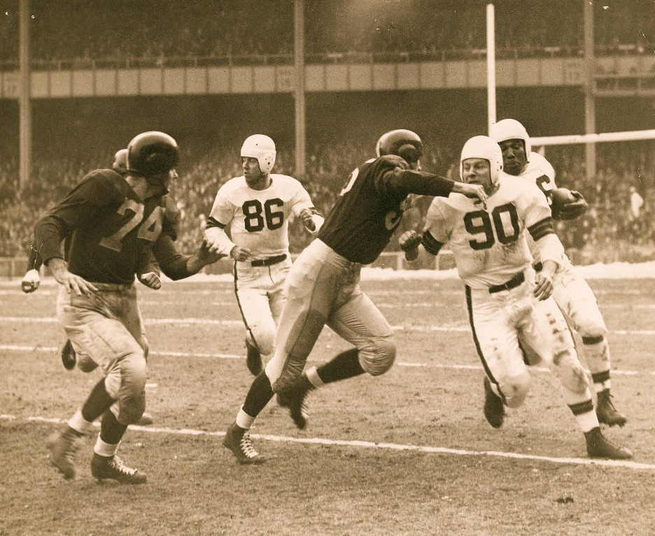 AAFC Action 1948 Browns vs. Yanks