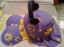 Purple and Yellow Belly with Headphones