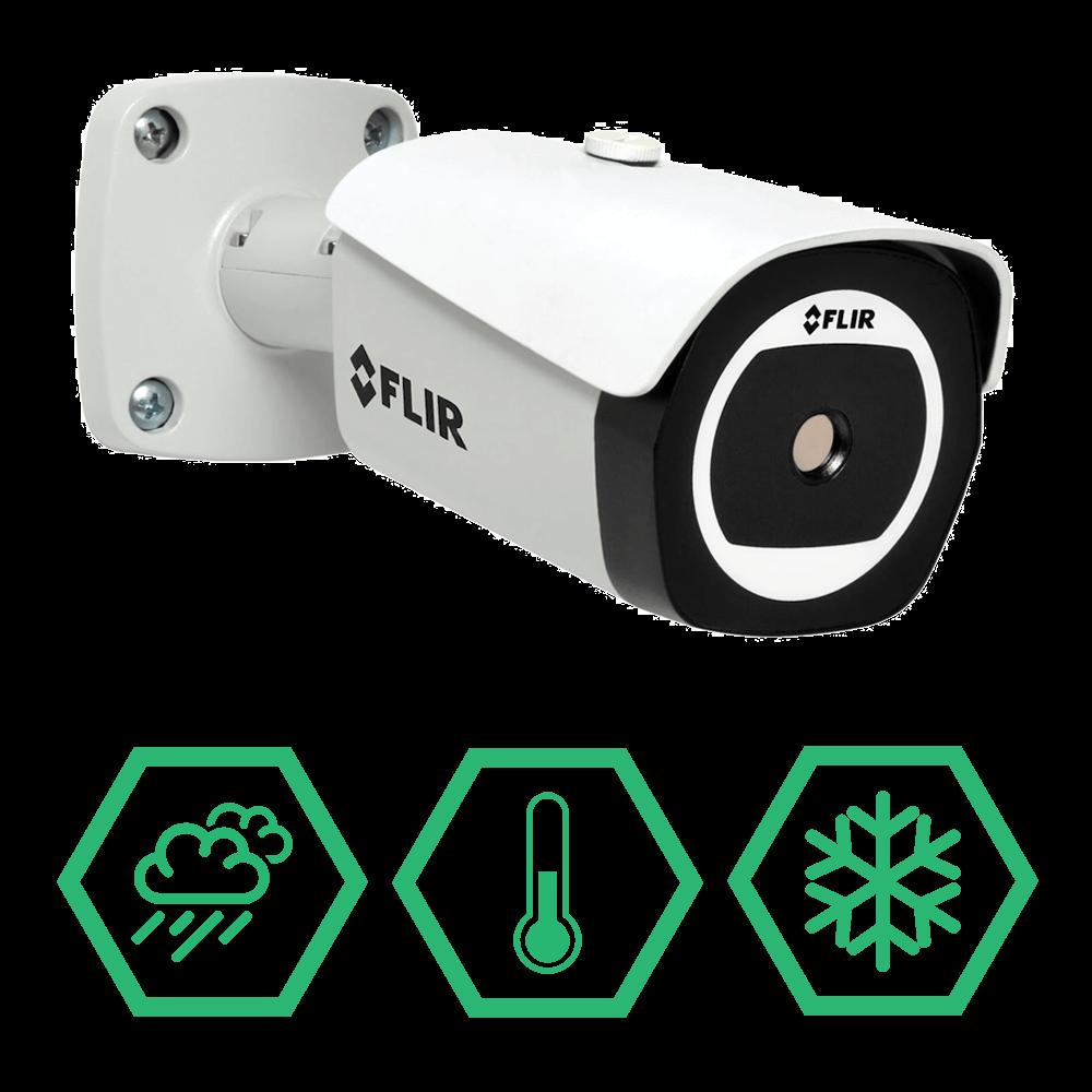 FLIR TCX T4350BNBW Mini Bullet Thermal Security Camera
