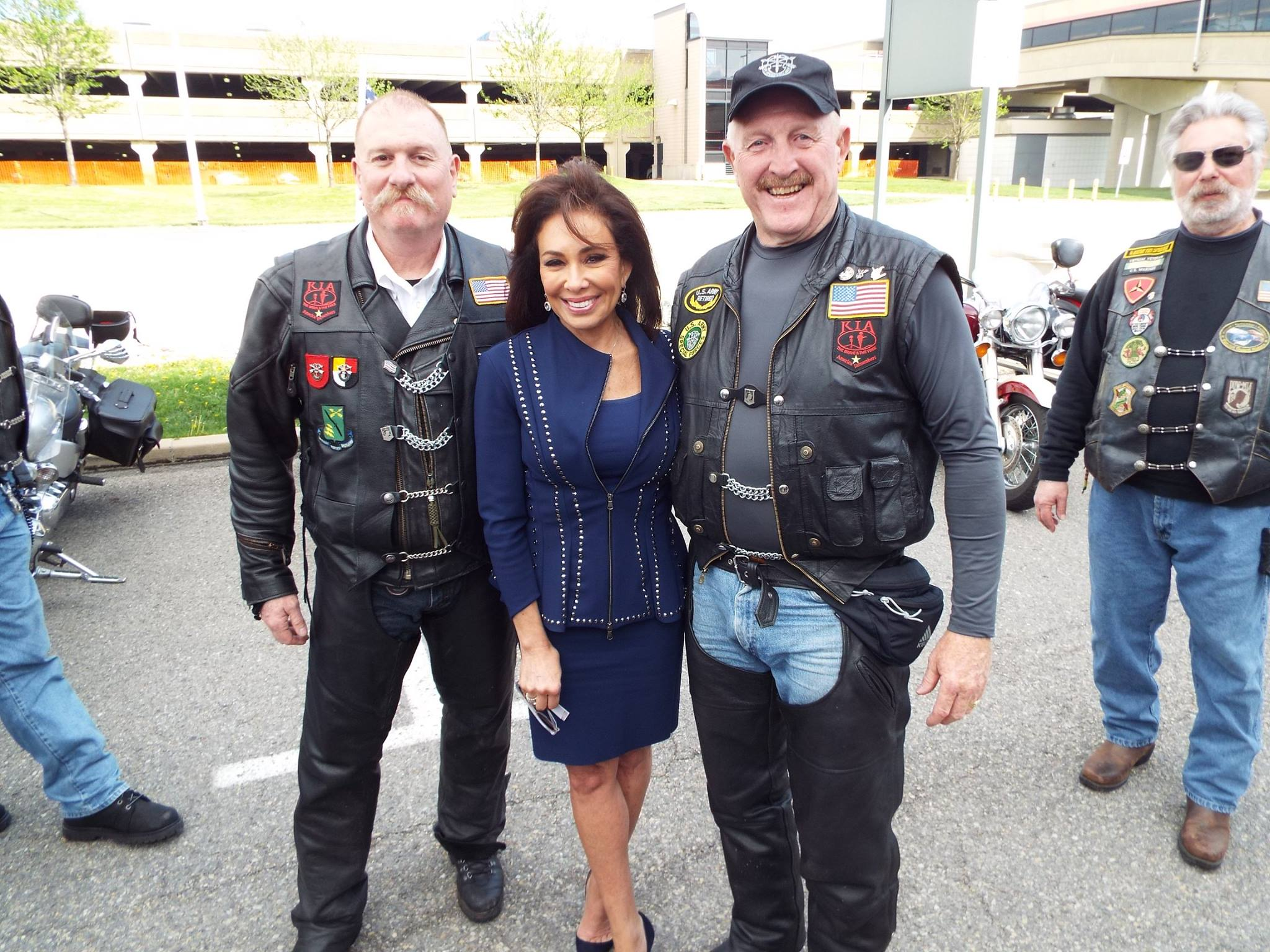 Mike Adams and Ron Johnson with Judge Jeanine