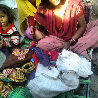 Donating clothes and medicines