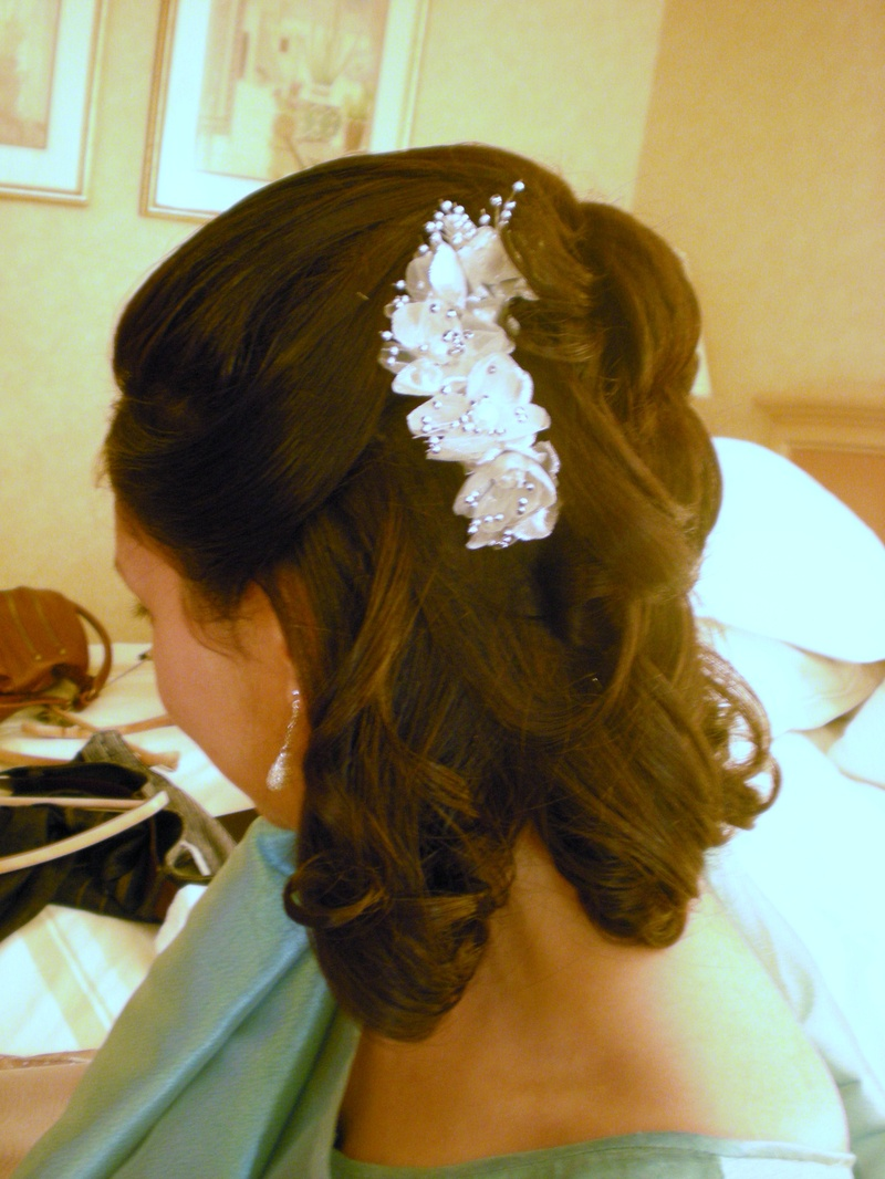 bride made hair style