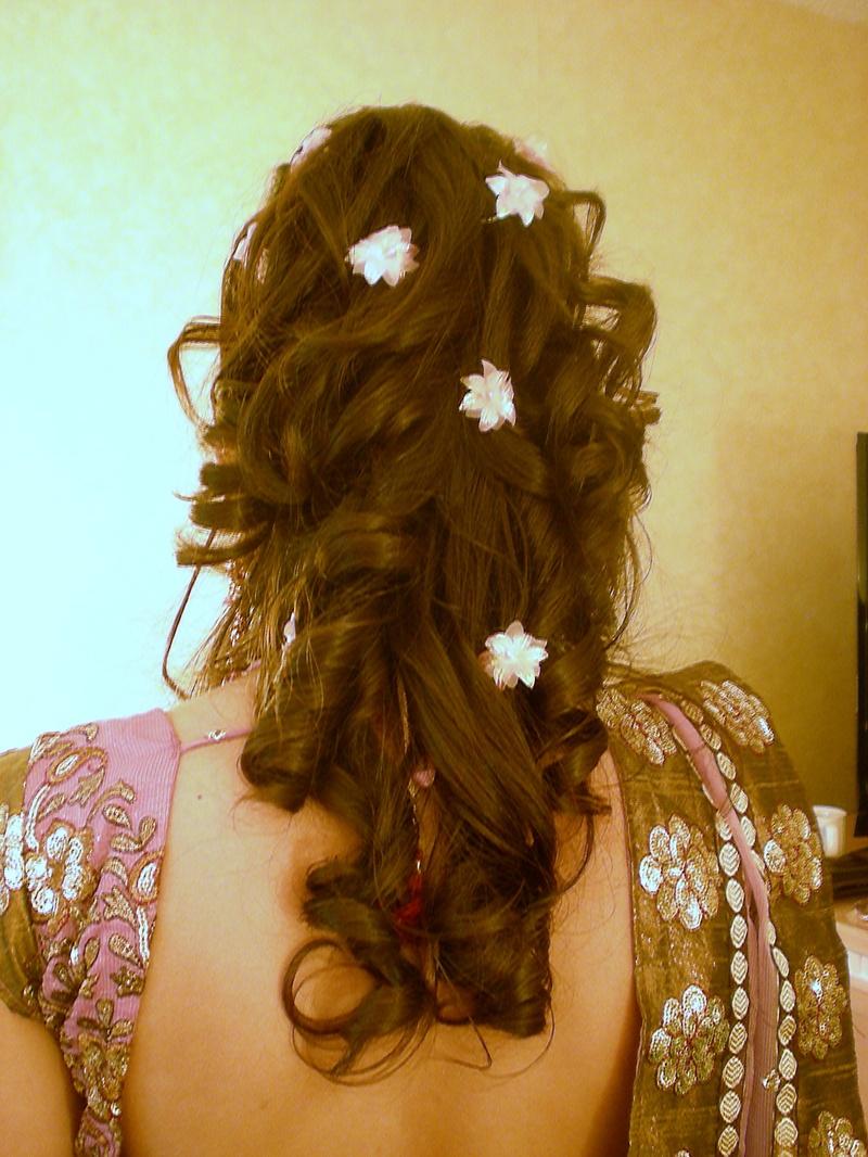 bride make hair style