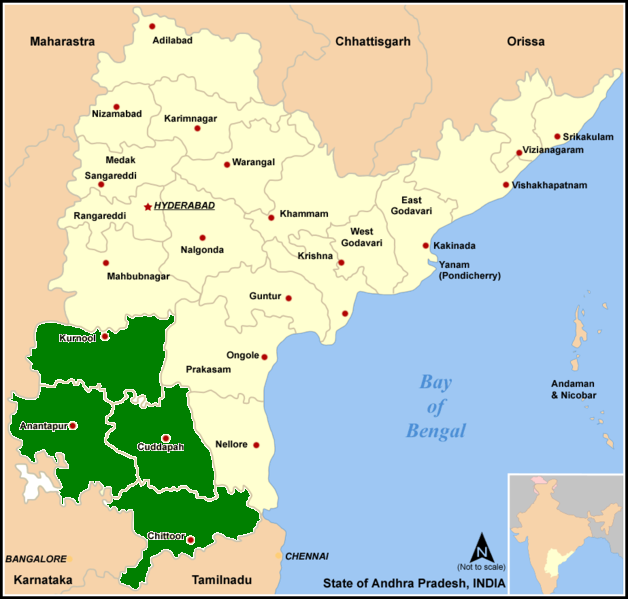 RAYALASEEMA MAP