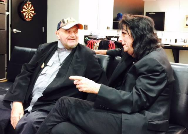 David Winters reuniting with Alice Cooper Feb 2015 (Photo courtesy of David Winters)