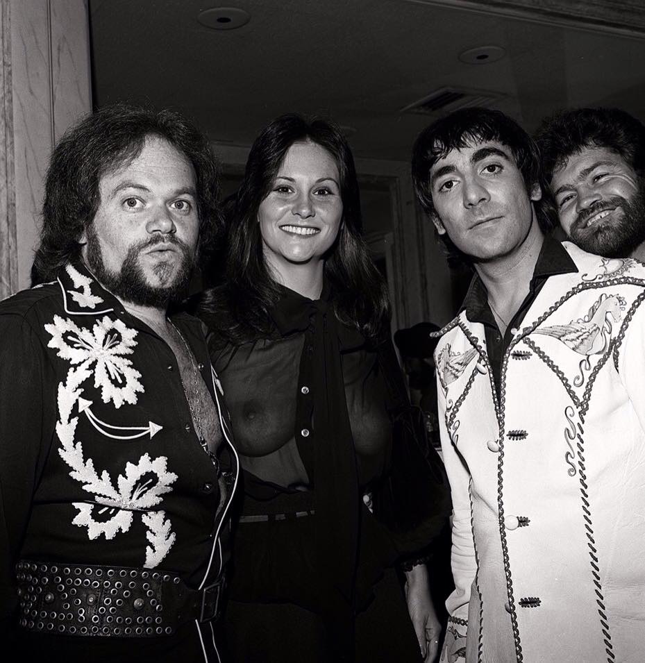 David, Linda, Keith Moon, Micky Dolenz