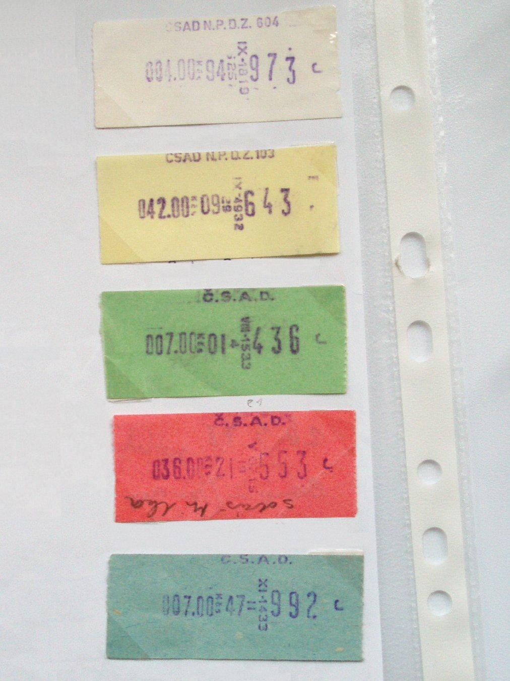 CSAD tickets