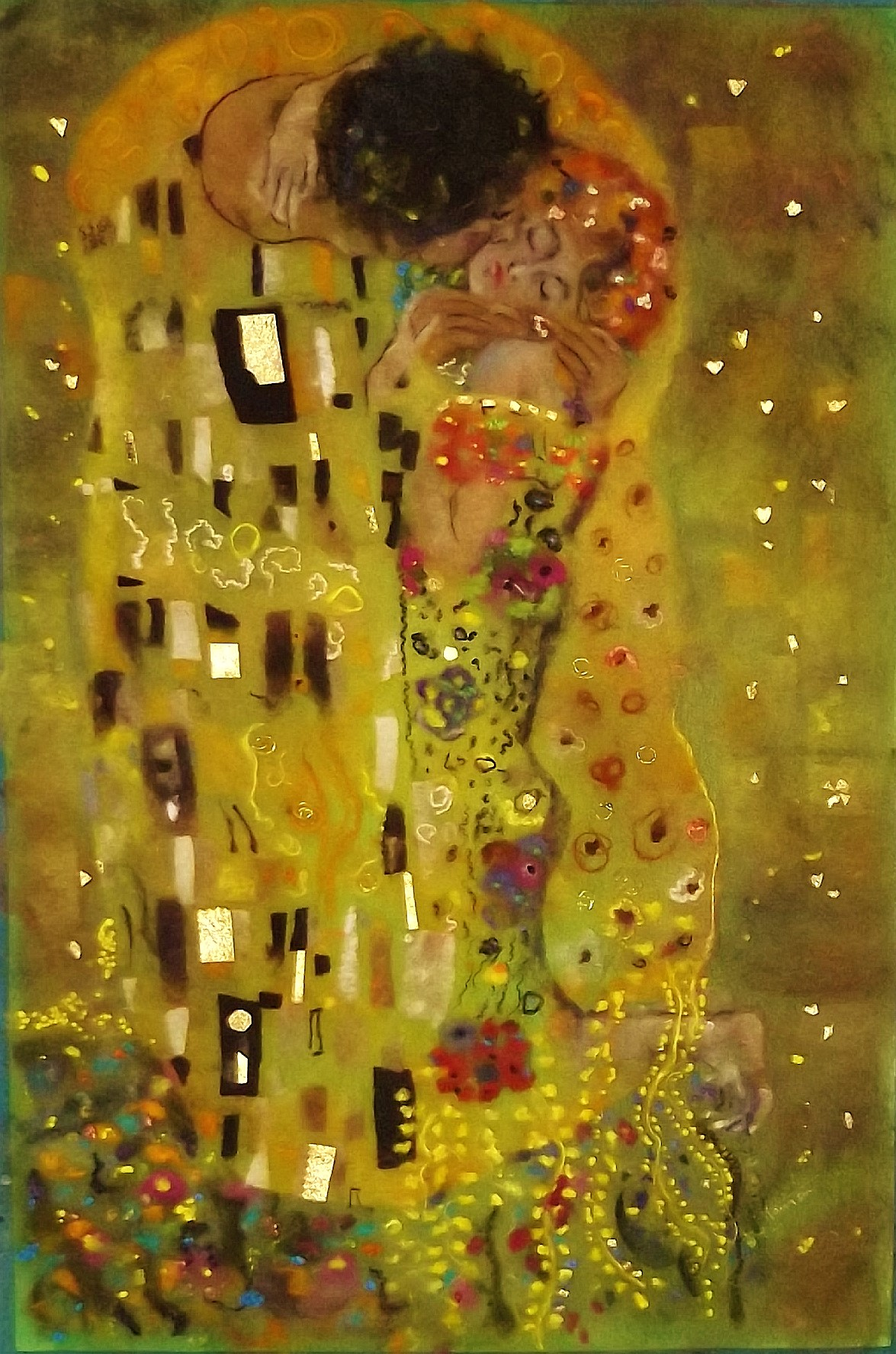 tribute to Gustav Klimt   'The Kiss'