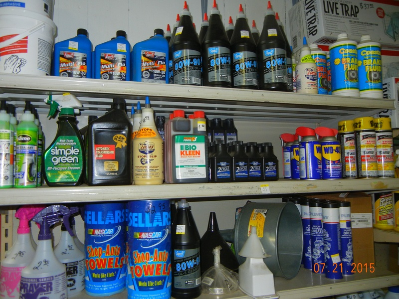 Oils and cleaning supplies