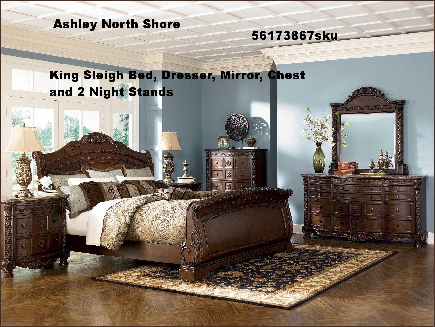 King Sleigh Bed Bedroom Sets King Bedroom Set Millennium Porter 5 Piece King Storage Bedroom