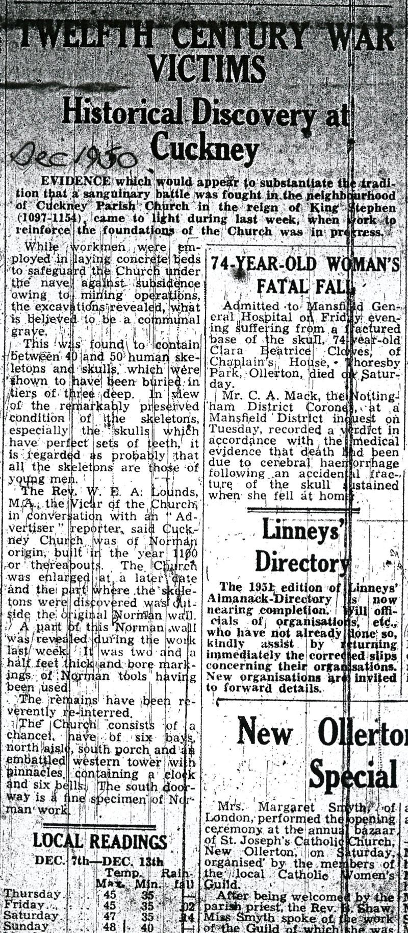 Mansfield Advertiser Dec 1950