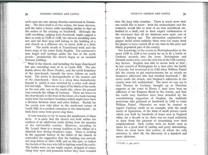 Professor Maurice Barley (Thoroton Society) article 1951