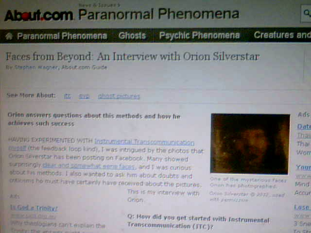 My interview on About.com with Author Stephen Wagner in regards to I.T.C
