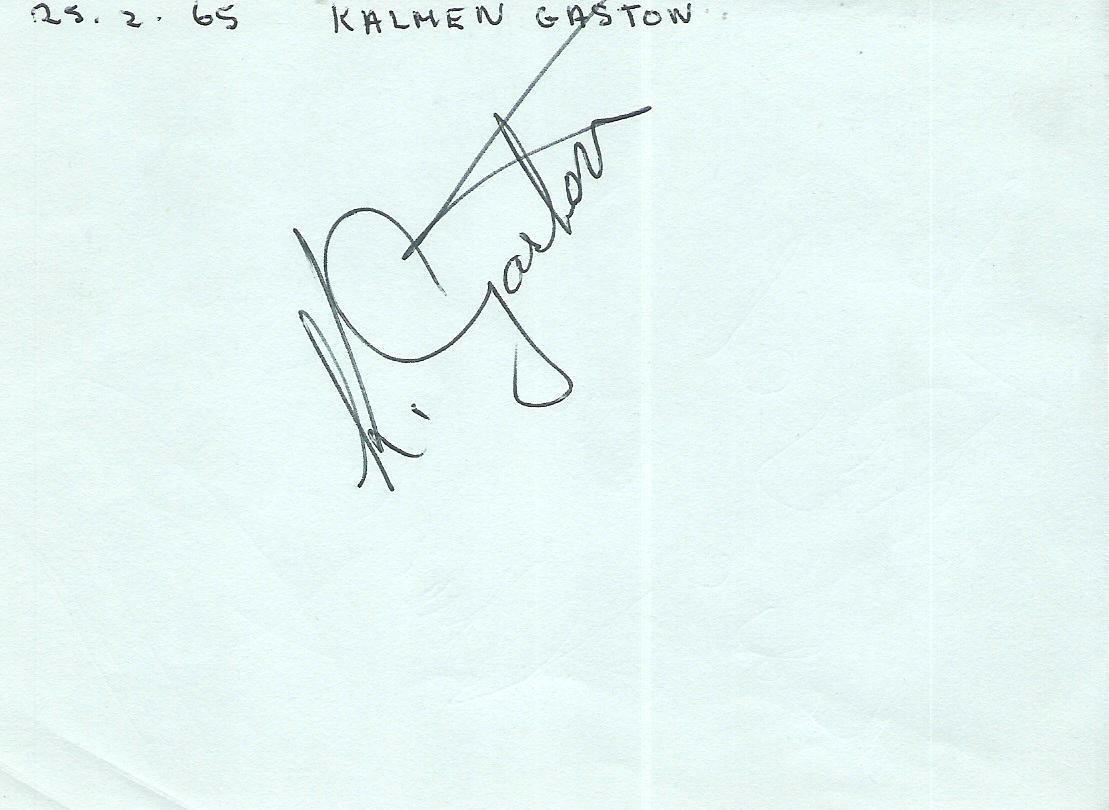 KALMEN GASTON