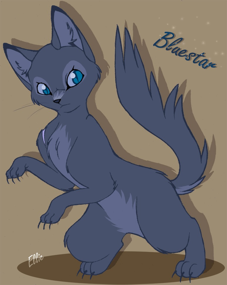 Warrior Cats Bluestar - Free Coloring Pages Warrior Cat Drawings Bluestar