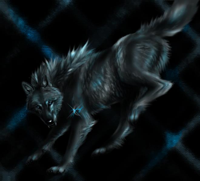 Dark Elemental Wolves