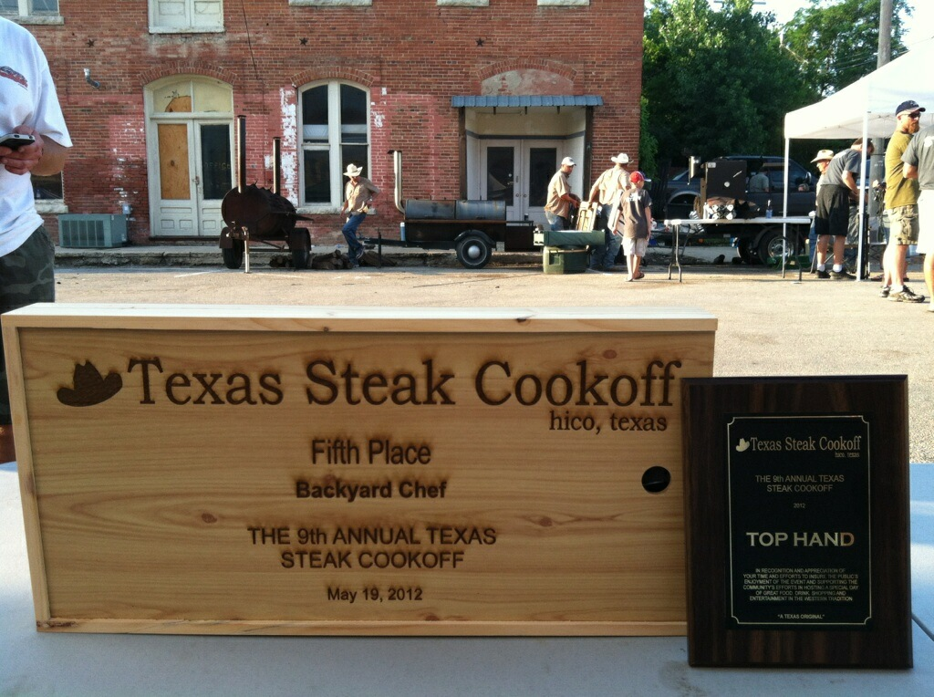 5th Place Ribeye in the nations largest steak cookoff!
