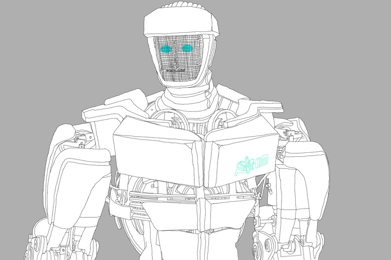 real steel ambush coloring pages - photo#34