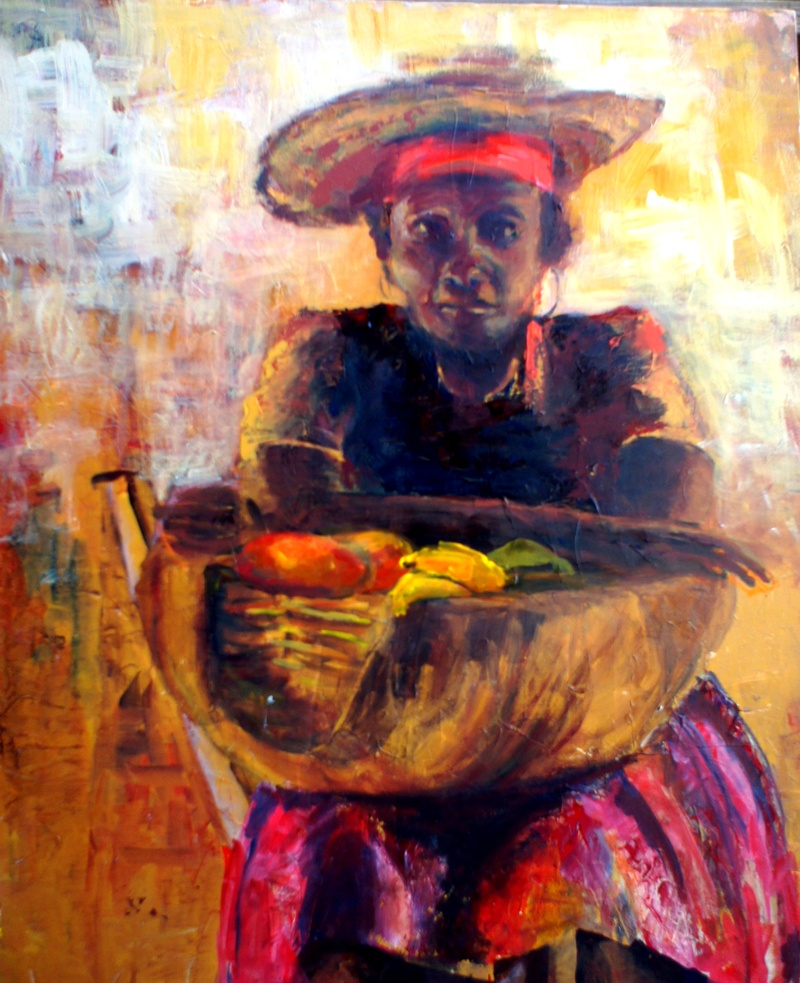 FRUIT SELLER (sold)