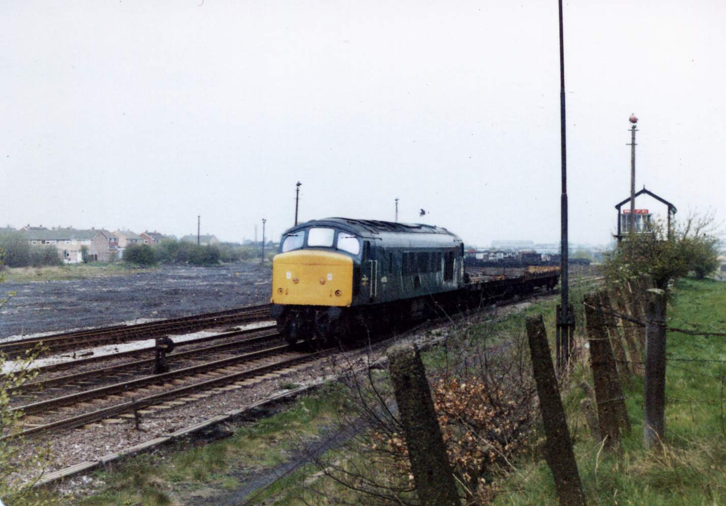 Class 45 passes No1 Box heading towards Pelsall