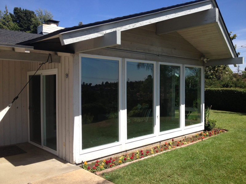 exterior with sliding glass door