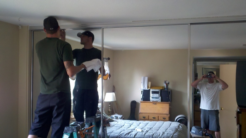 large sliding mirror closet doors